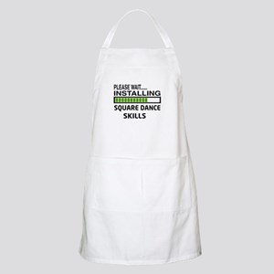 Please wait, Installing Square dance skills Apron