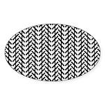 Optical Illusion Oval Sticker