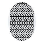 Optical Illusion Oval Ornament