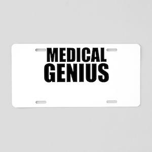 Medical Genius Aluminum License Plate