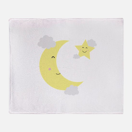 Moon and Star Throw Blanket
