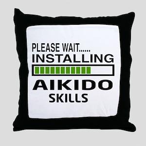 Please wait, Installing Aikido skills Throw Pillow