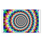 Optical Illusion 2 Sticker (Rectangle)
