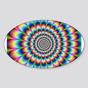 Optical Illusion 2 Sticker (Oval)