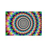 Optical Illusion 2 Rectangle Magnet
