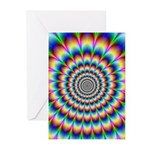 Optical Illusion 2 Greeting Cards (Pk of 20)