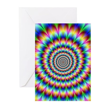 Optical Illusion 2 Greeting Cards (Pk of 10)