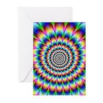 Optical Illusion 2 Greeting Cards (Pk of 10)