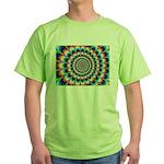 Optical Illusion 2 Green T-Shirt