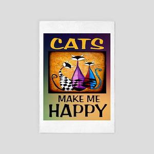 Happy Cats 4' X 6' Rug