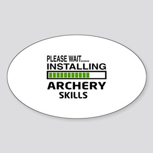 Please wait, Installing Archery ski Sticker (Oval)