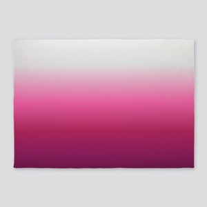 abstract magenta fuchsia ombre 5'x7'Area Rug