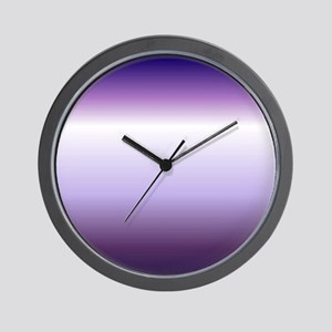 abstract lilac purple ombre Wall Clock