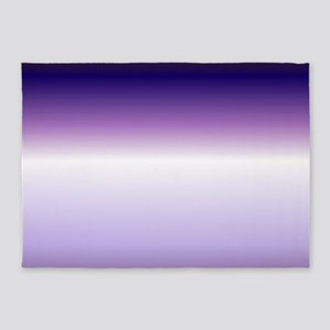 abstract lilac purple ombre 5'x7'Area Rug