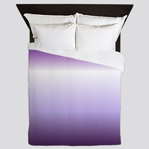 abstract lilac purple ombre Queen Duvet