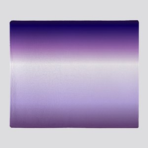 abstract lilac purple ombre Throw Blanket