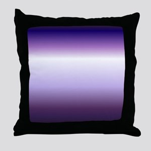abstract lilac purple ombre Throw Pillow