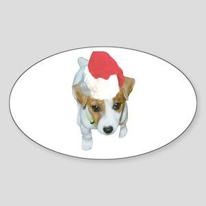 JRT Santa Oval Sticker