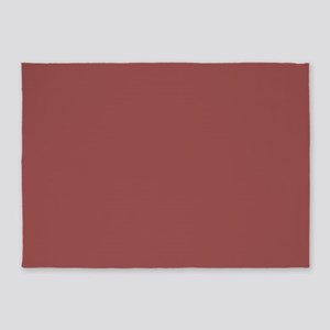 abstract clay brick red 5'x7'Area Rug