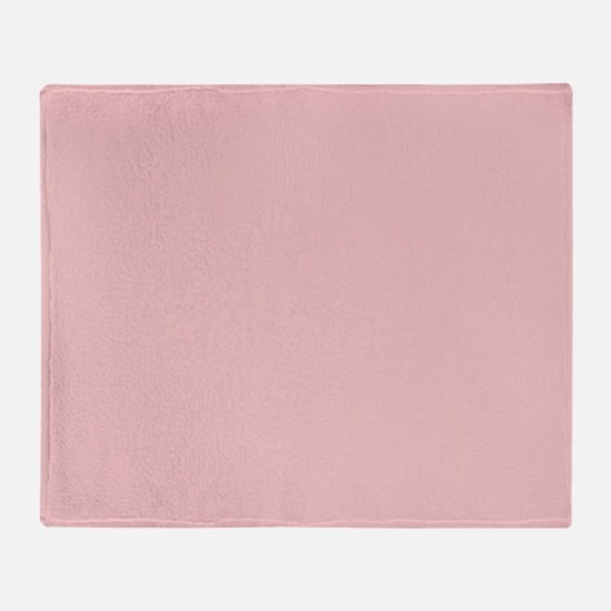 fashion pastel blush pink Throw Blanket