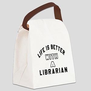 Librarian Designs Canvas Lunch Bag