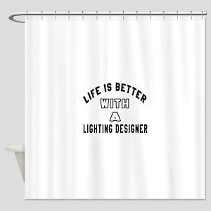Lighting Designer Designs Shower Curtain