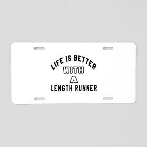 Length Runner Designs Aluminum License Plate