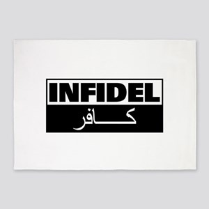 Infidel: English and Arabic 5'x7'Area Rug