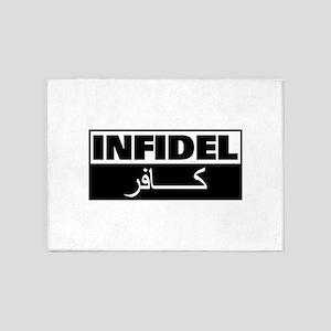 Infidel: English and Arabic 5'x7'Area Rug