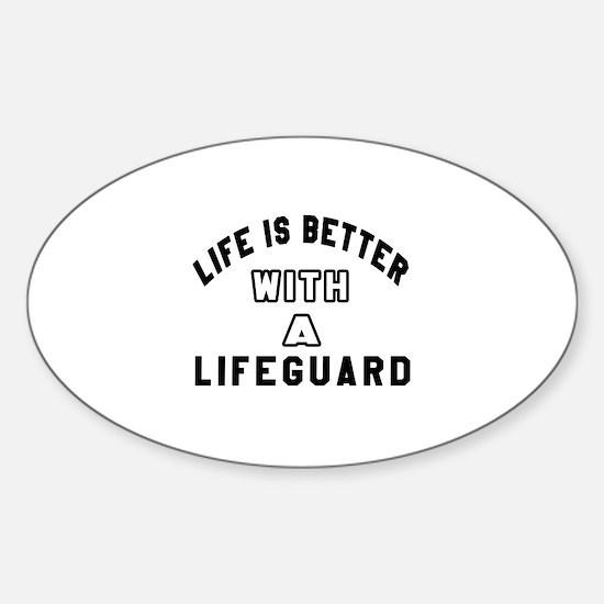 Lifeguard Designs Sticker (Oval)
