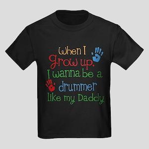Drummer Like Daddy Kids Dark T-Shirt