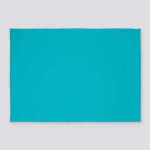 abstract turquoise teal blue 5'x7'Area Rug