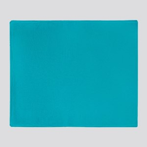 abstract turquoise teal blue Throw Blanket