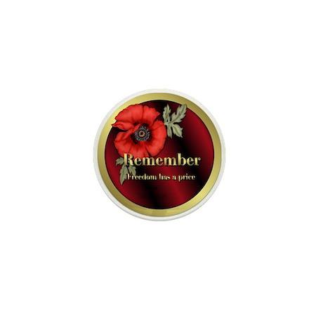 Remember Poppy Mini Button (100 pack)