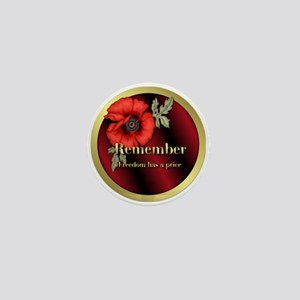Remember Poppy Mini Button