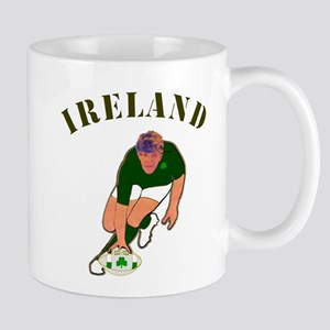 Ireland style rugby player Mugs