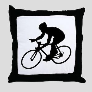 Cycling race Throw Pillow