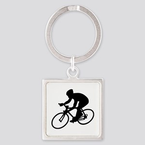 Cycling race Square Keychain
