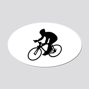 Cycling race 20x12 Oval Wall Decal