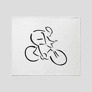 Cycling cyclist Throw Blanket