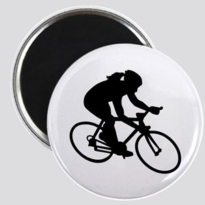 Cycling woman girl Magnet