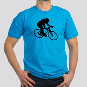 Cycling woman girl Men's Fitted T-Shirt (dark)