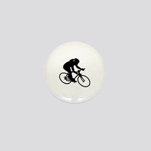 Cycling woman girl Mini Button