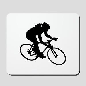 Cycling woman girl Mousepad