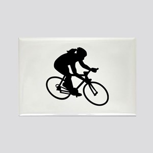 Cycling woman girl Rectangle Magnet