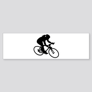 Cycling woman girl Sticker (Bumper)