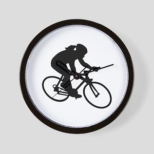 Cycling woman girl Wall Clock