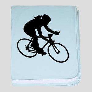 Cycling woman girl baby blanket