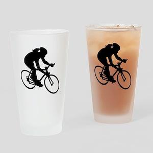 Cycling woman girl Drinking Glass