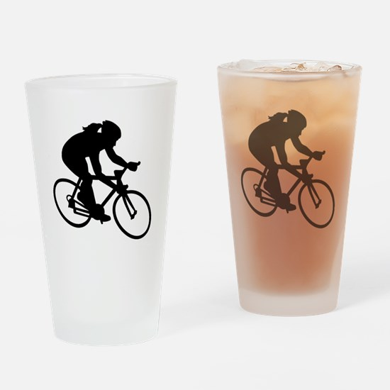 Cycling woman girl Drinking Glass